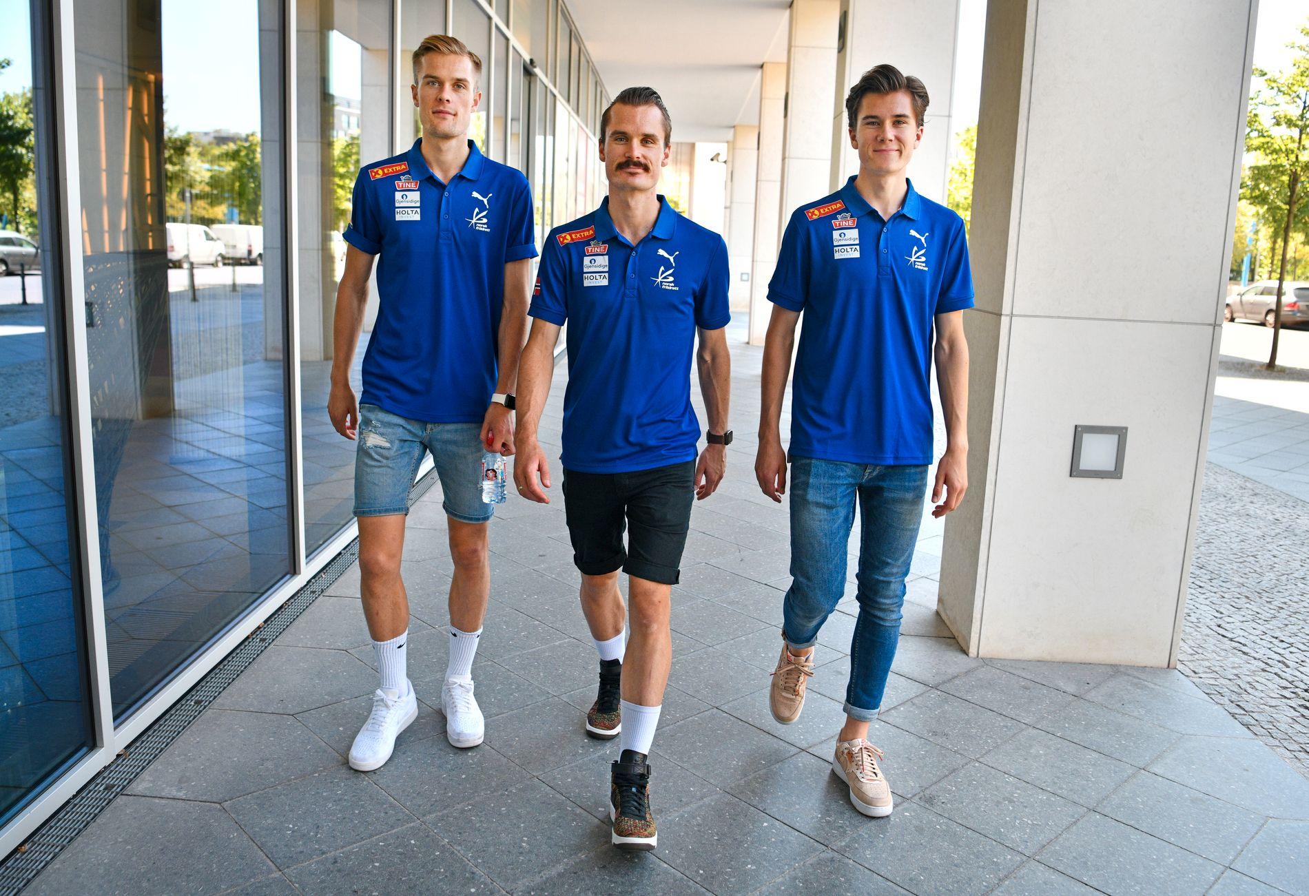 BRØDRE-TRIO: Fra v.: Filip, Henrik og Jakob Ingebrigtsen.