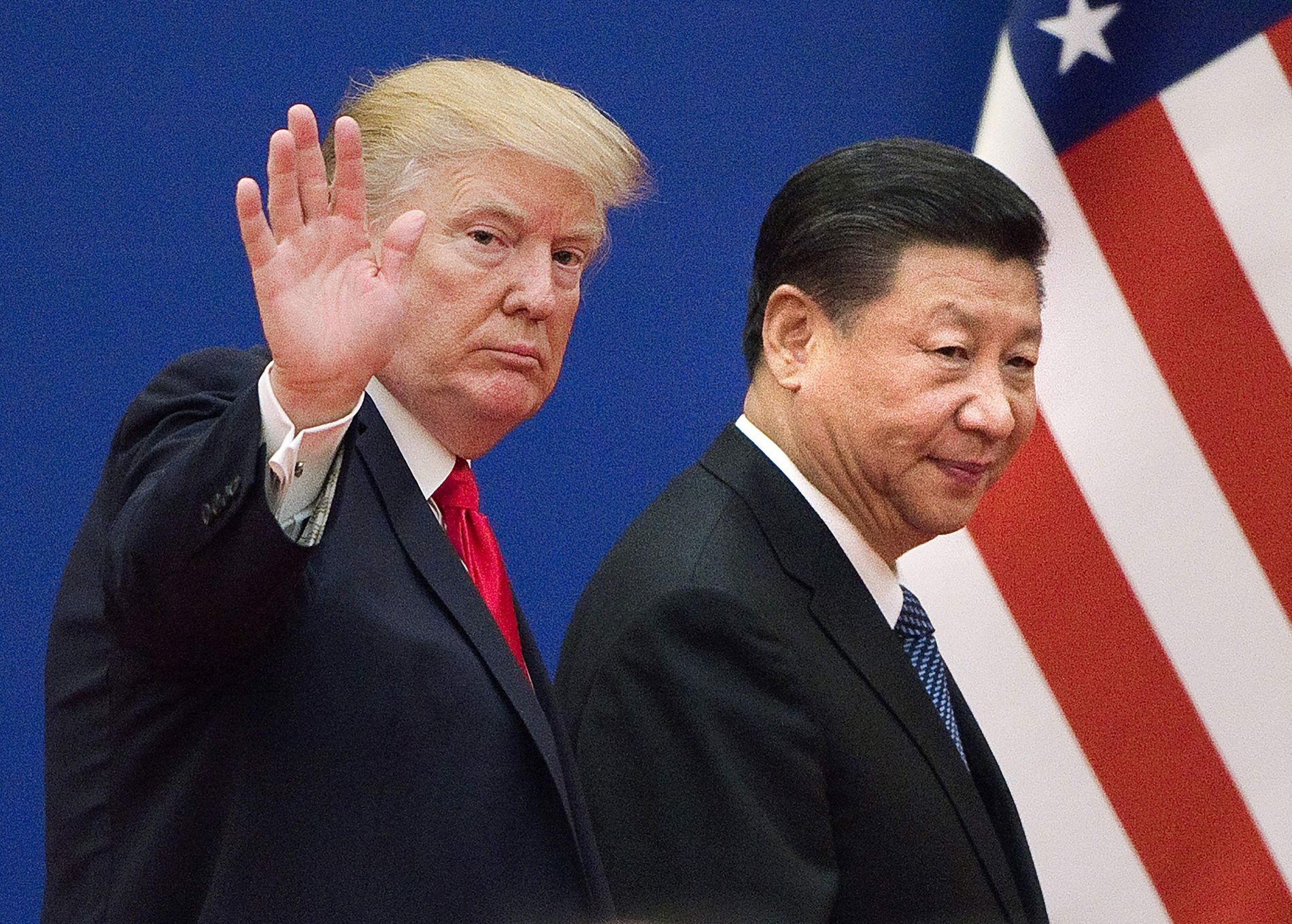 GODE BUSSER: Ifølge Kinas USA-ambassadør Cui Tiankai er Donald Trump og Kina-president Xi gode busser.