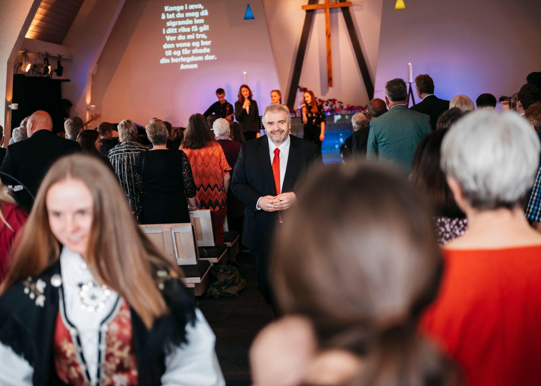 OLAUGS MENIGHET: I Ålgård baptistmenighet er de stolte av KrF-nestleder Olaug Bollestad, men ikke like fornøyde etter fjorårets skjebnehøst. – Dette veivalget ble litt galt uansett, sier pastor Magnar Meland.