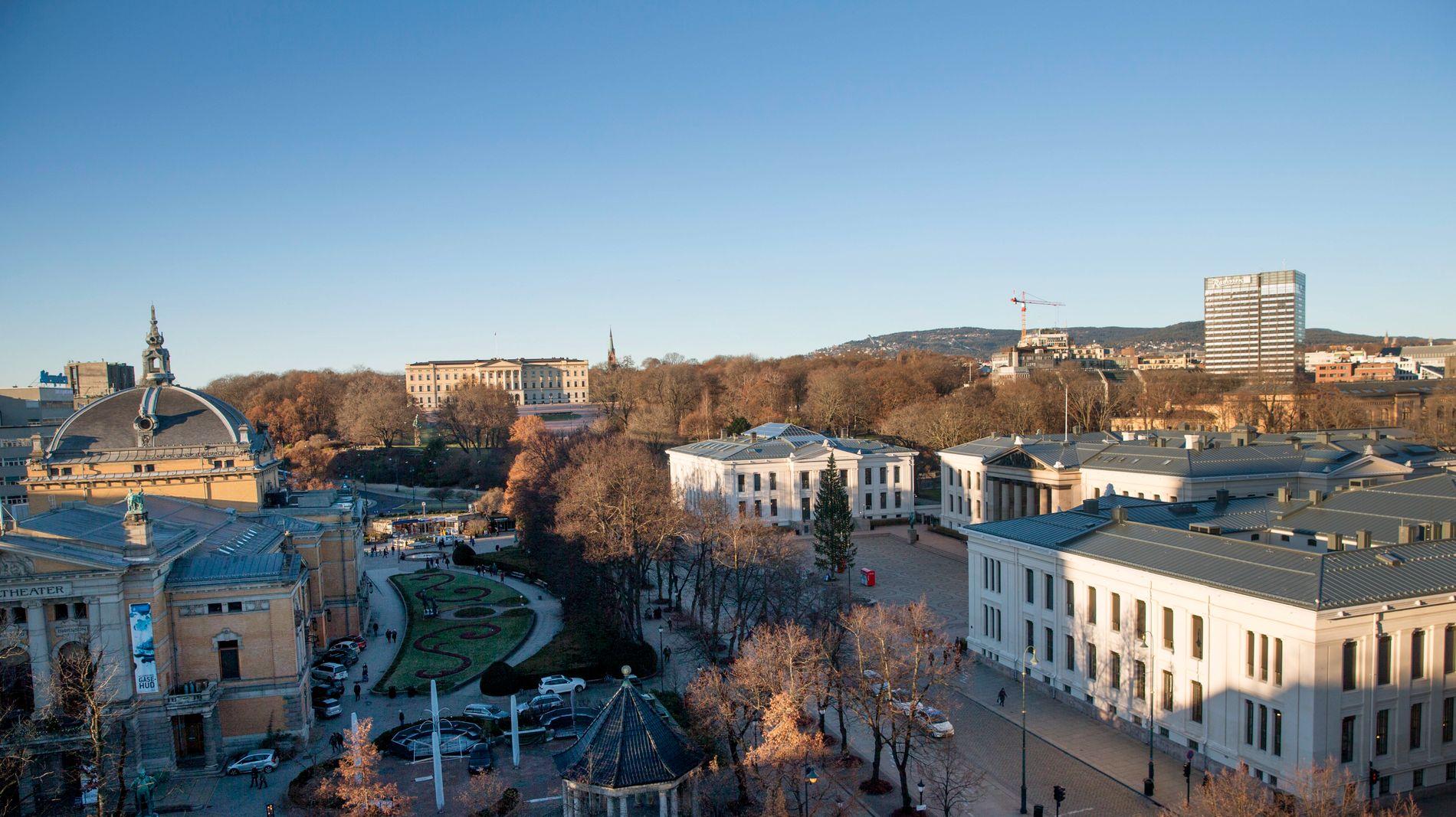 RUVER: Radisson Blu Scandinavia Hotel er det høye bygget til høyre i bildet.