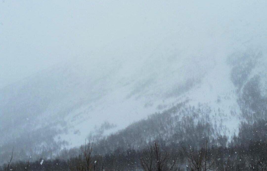 SKREDOMRÅDE: Ved dette fjellet i Oldervik gikk det skred onsdag kveld som kuttet strøm- og veiforbindelsen til bygda.