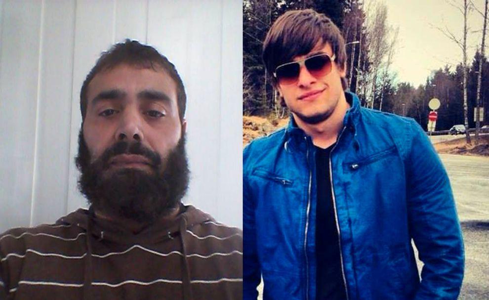 SYRIA-FARERE: Til venstre Hasan Ahmed (46). Til høyre Adam Idrisovich Magomadov (23).