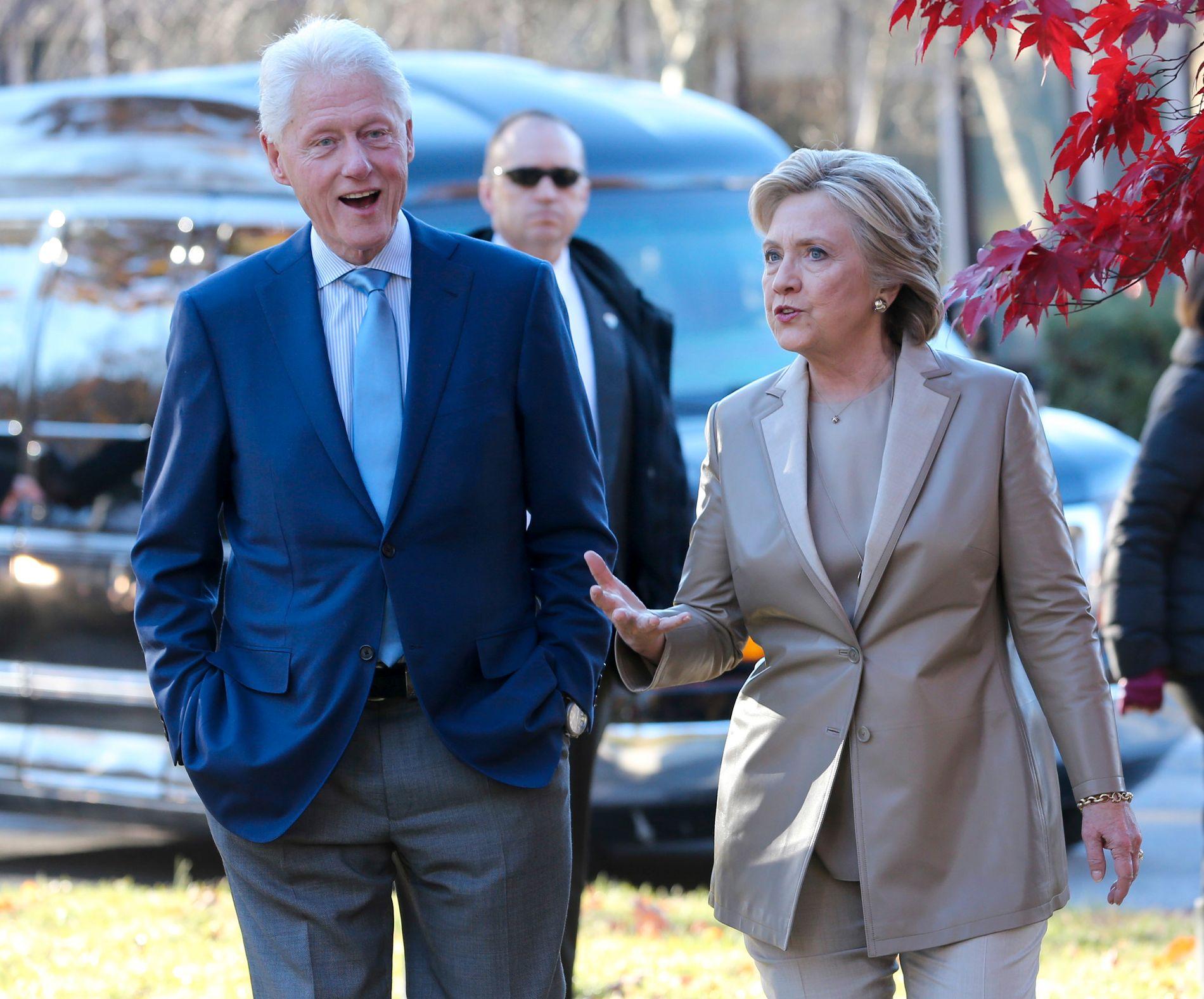 EKTEPAR: Tidligere president Bill Clinton og kona Hillary. Sistnevnte tapte for Donald Trump i forrige presidentvalg.