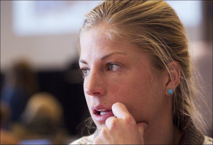 I SORG: Astrid Uhrenholdt Jacobsen fikk dødsbudskapet fredag og blir ivaretatt av den norske OL-troppen i Sotsji. Dette bildet er tatt ved en tidligere anledning. Foto: Geir Olsen