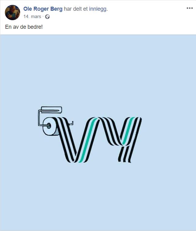 VITSEBILDET: Dette er innlegget Berg delte for å vise sin misnøye ved det nye navnet.