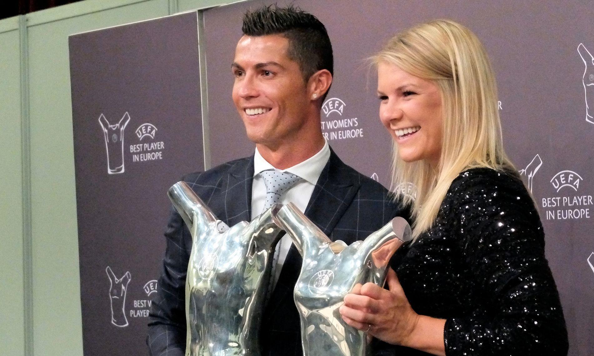 2016: Cristiano Ronaldo og Ada Hegerberg ble kåret til årets spillere i Europa i 2016. Nå kan det skje igjen.
