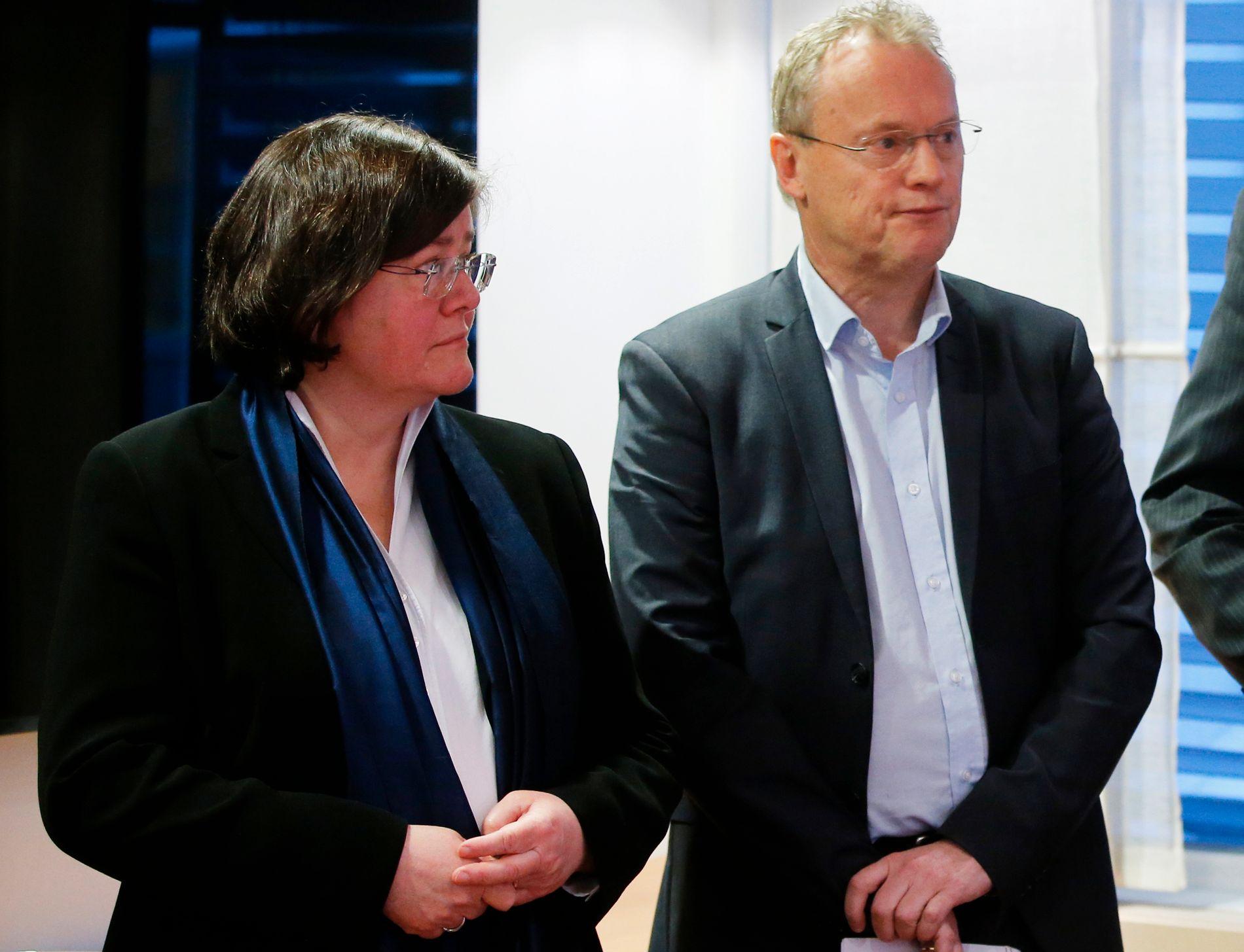 ENIGE DEN GANG: Her signerte fylkesordfører Anette Solli (H) i Akershus og byrådsleder Raymond Johansen (Ap) i Oslo en bymiljøavtale for de to fylkene i januar 2017.