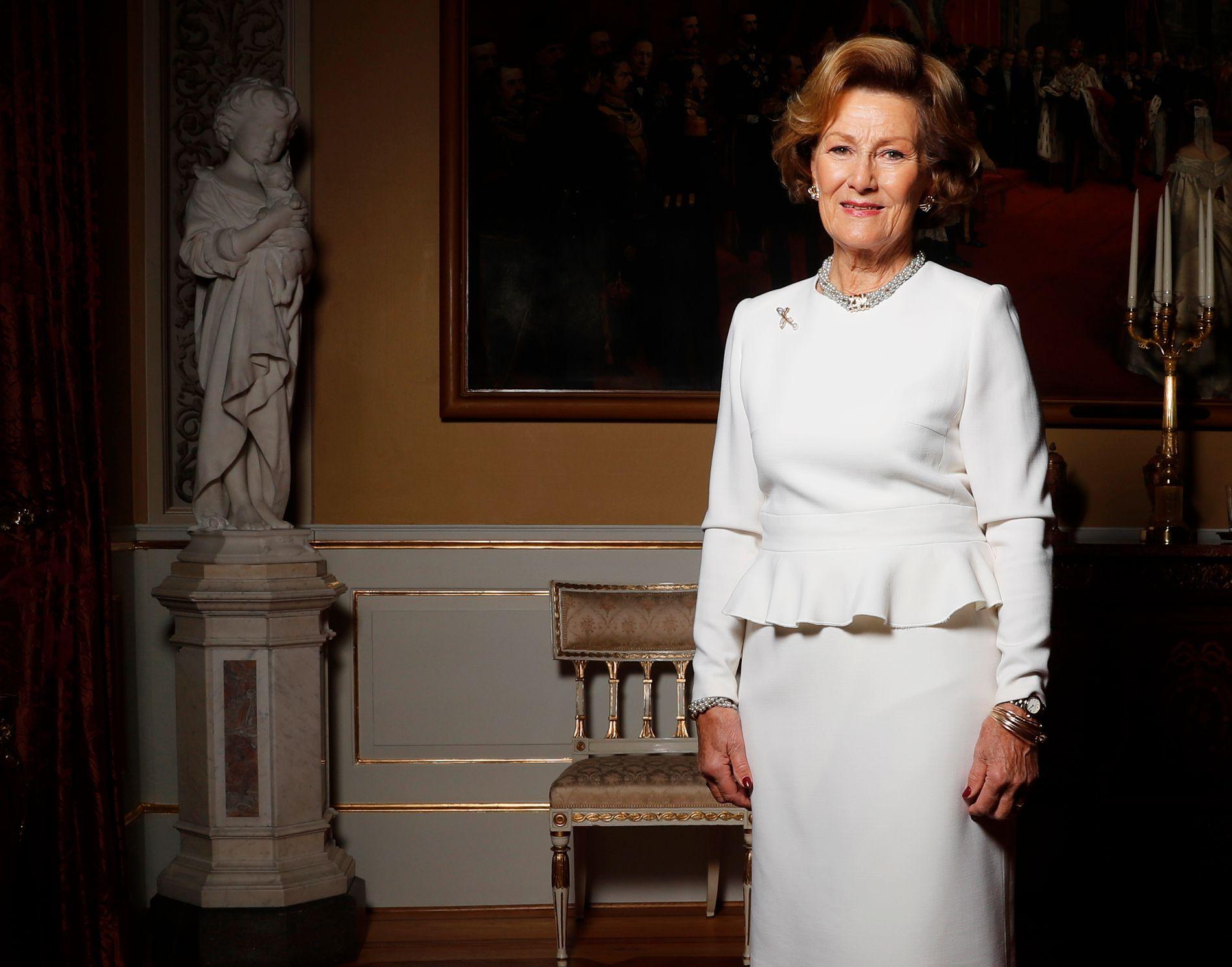 JUBILANT: Tirsdag fyller Dronning Sonja 80 år