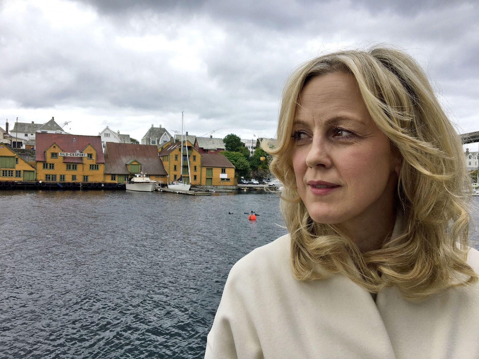 SERIEKLAR: Marian Saastad Ottesen er i Haugesund for å presentere «Vikingane», sesong 2 på filmfestivalen.