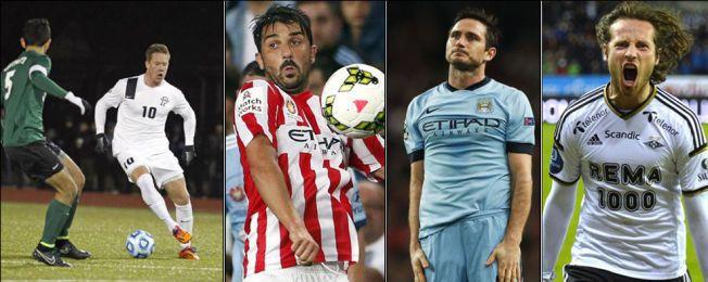 NEW YORK-SPILLERE: Markus Naglestad (t.v) blir lagkompis med Frank Lampard (på utlån til City), David Villa og Mikkel Diskerud.