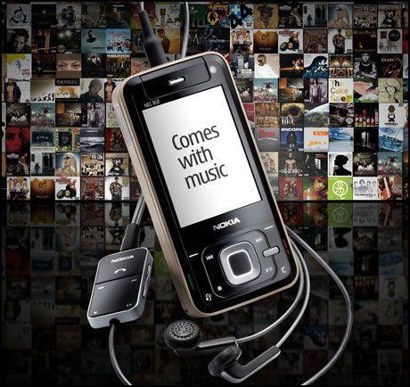 """MILLIONER AV SANGER: Med """"Comes with music"""" kan du laste ned millioner av sanger gratis. Foto: Nokia"""