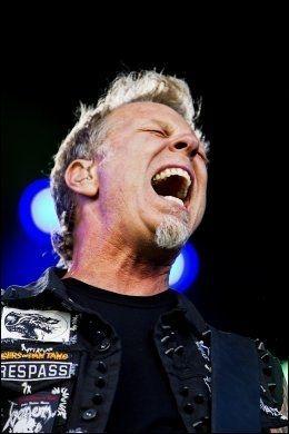 KVELERTAK-FAN: James Hetfield var på tirsdagens Kvelertak-konsert i San Francisco. Her fra Metallicas konsert på Valle Hovin i fjor. Foto: Øyvind Nordahl-Næss, VG