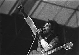 LEGENDEN: Bob Marley under Hortenfestivalen i 1978. Foto: Jan Petter Lynau