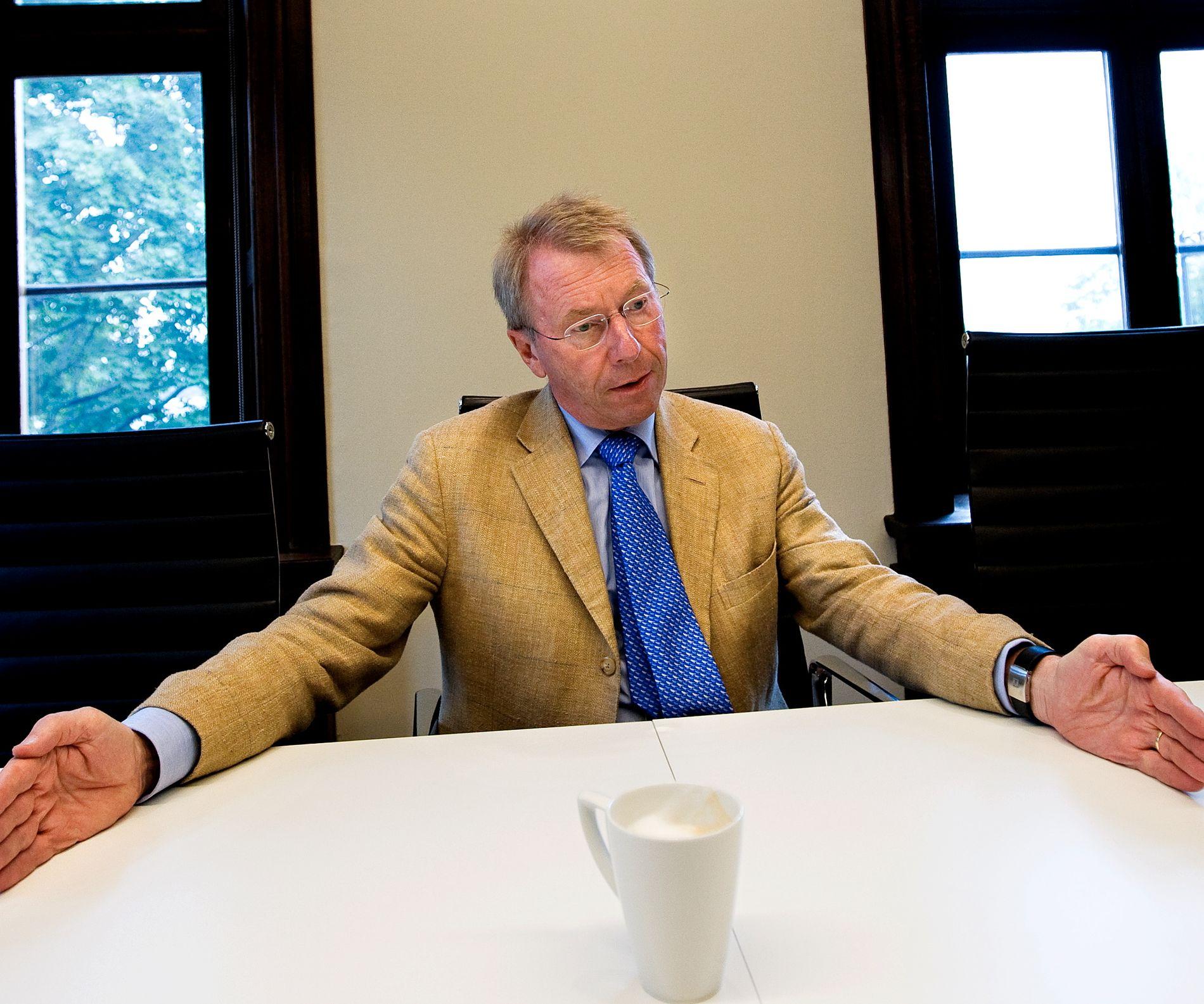 TANKEKORS: Investor Jens Ulltveit-Moe sier det er trist at det er den eldre generasjonen i Storbritannia, som har opplevd krigen, som søker isolasjon fra EU.