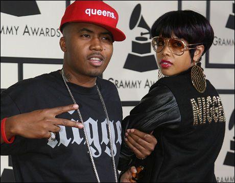 SLUTT: Nas og Kelis, her på Grammy Awards i fjor. Foto: AFP
