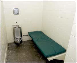 CELLEN: Dette er cellen Michael Jackson får tildelt de første ukene dersom han blir funnet skyldig. Foto: EPA