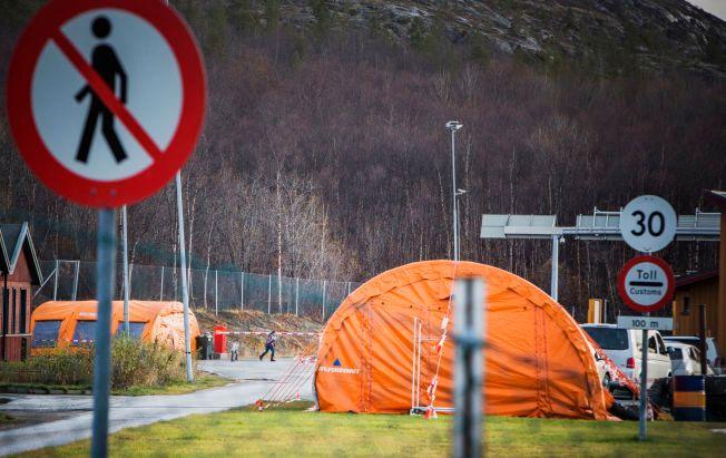 PÅ GRENSEN: Lørdag kom det 48 asylsøkere til Norge via Storskog. Flere av dem som har blitt returnert til Russland, har blitt avvist av myndighetene.