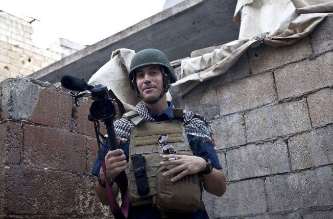 BLE BORTFØRT: Dette bildet er tatt 5. november 2012 og viser James Foley ikke lenge før han ble bortført i Syria.