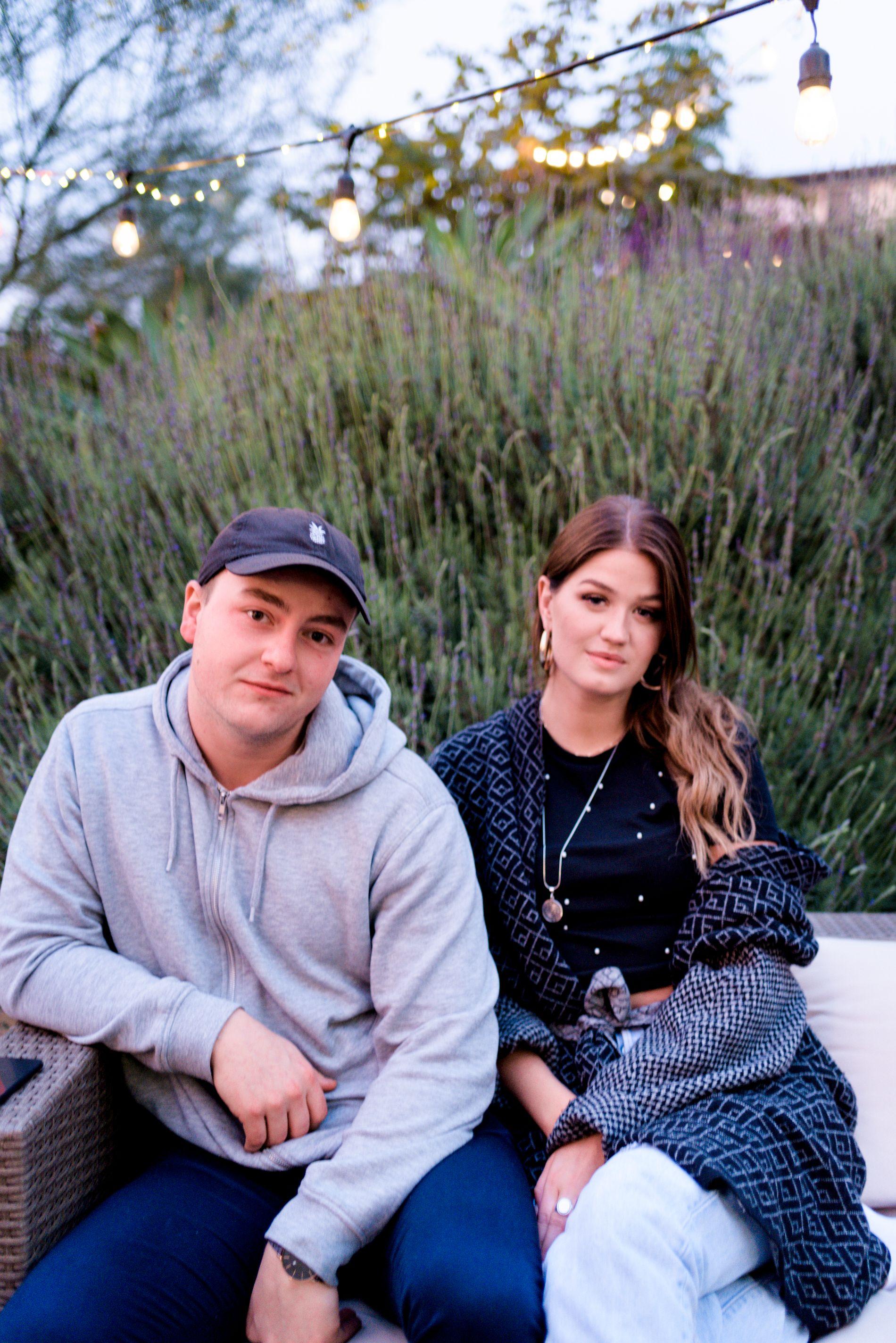 TIL LA: De norske artistene Sonny Alven og Una Sand har kommet til USA for å prøve lykken.