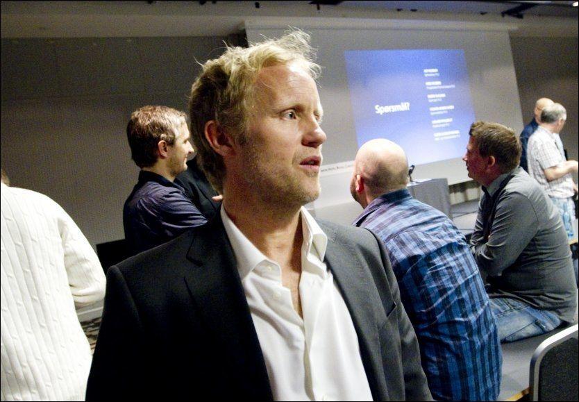 SELVSIKKER: TV 2-profil Øyvind Alsaker mener kanalen vil foredle og fornye Premier League-sendingene som til nå har tilhørt Canal . Foto: Scanpix