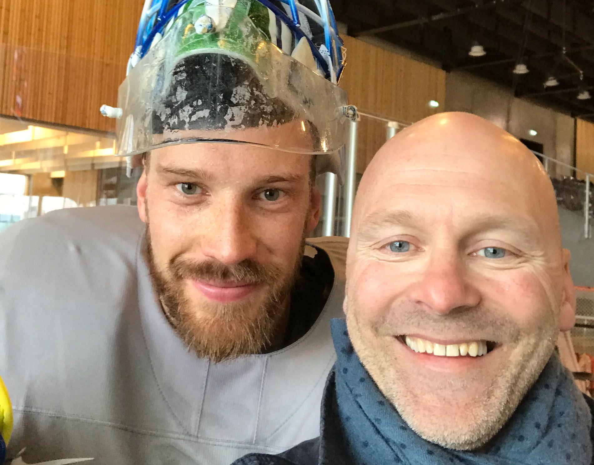 VM-SMIL: Anders Nilsson og Per Eftang fotografert under VM i Danmark.