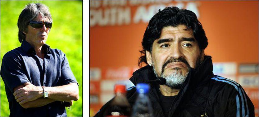 VENNER: Terje Liverød og Diego Maradona er venner, og den norske agenten tror Maradona ble utsatt for sterkt press fra forbundet i Argentina. Foto: Nils Bjåland/Bjørn S. Delebekk