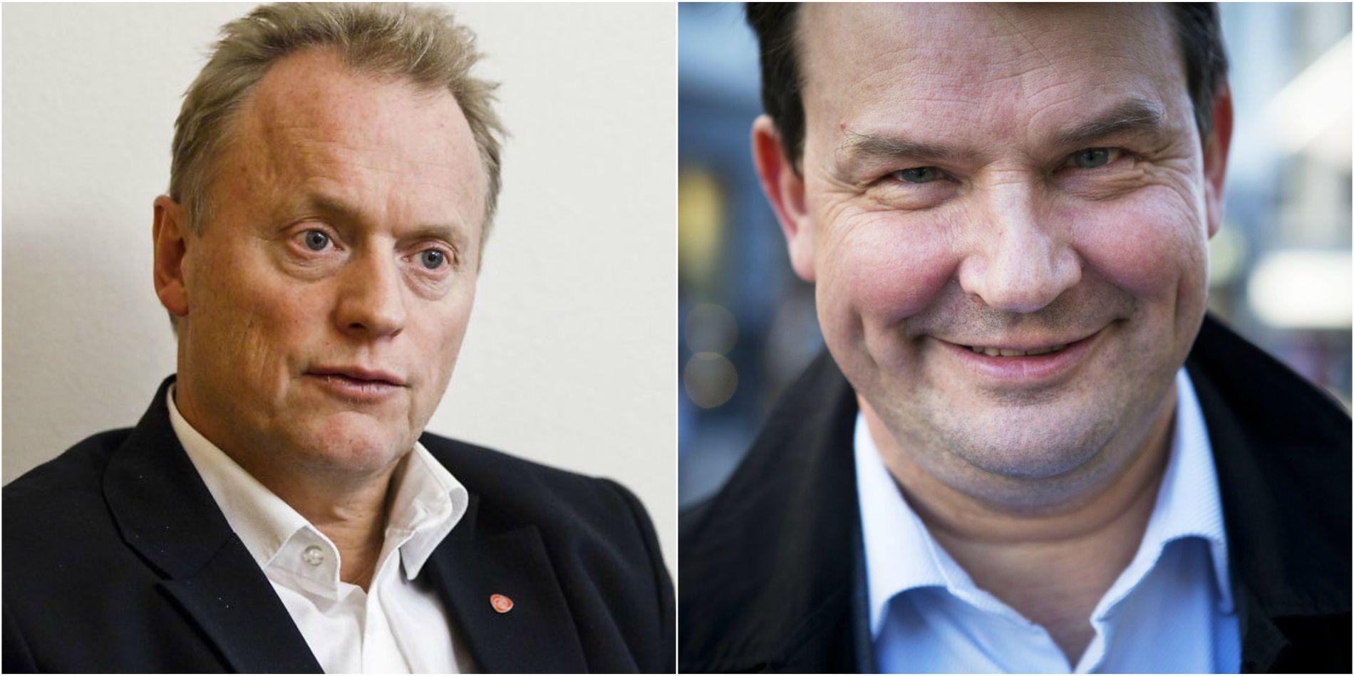 FÅR KRITIKK: Byrådsleder Raymond Johansen (Ap) og justisminister Tor Mikkel Wara (Frp)