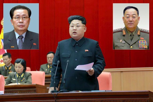 BRUTAL: I desember skal Kim Jong-uns onkel Jang Song Thaek (t.v.) ha blitt offer for nevøens vrede. Nå skal også forsvarsminister Hyon Yong-Chol ha blitt henrettet. Listen over dødsstraff-ofre skal imidlertid være lang.