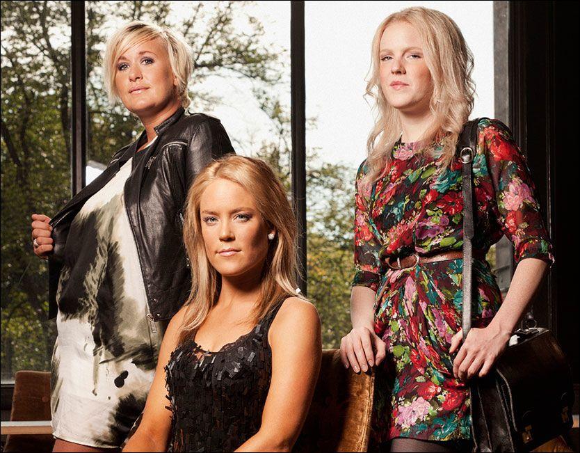 INGEN KNALLSTART: «Frogner» på TV3 rundet ikke engang 100.000 seere. F.v.: Cecilie, Linn-Frederikke og Silje. Foto: TV3