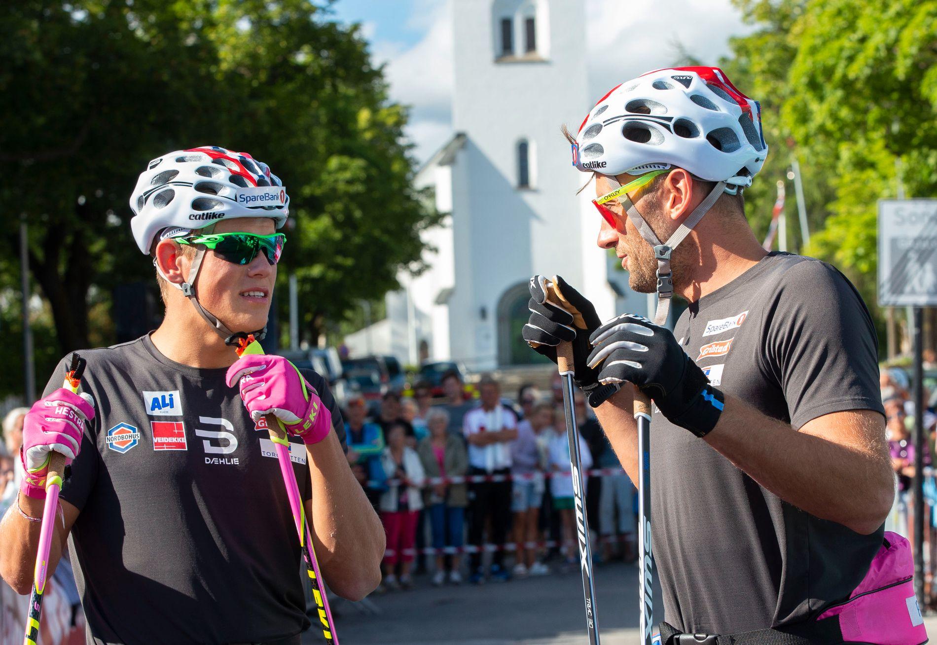 SKISTJERNER: Johannes Høsflot Klæbo og Petter Northug.