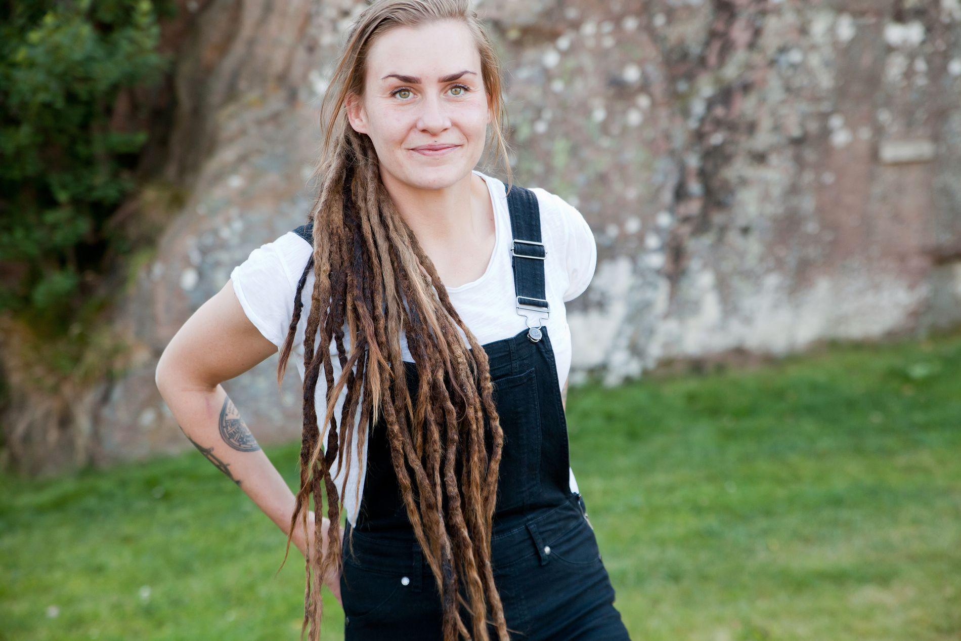 HÅRFAGER: Camilla Cox Barfot, her i et møte med VG samme dag som hun flyttet inn på «Farmen»-gården i Arendal i sommer.
