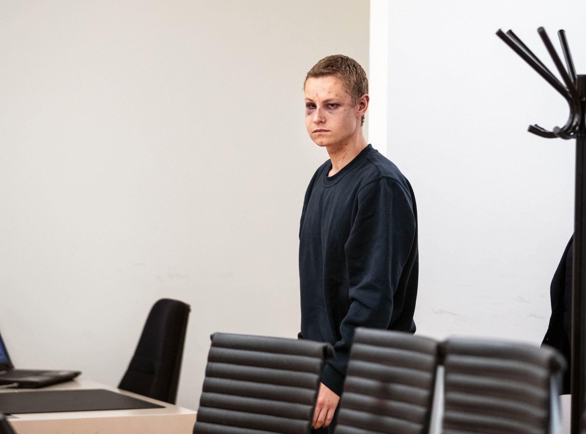 FENGSLET: Oslo tingrett avgjorde mandag at terrorsiktede Philip Manshaus (21) skal varetektsfengsles i fire uker.