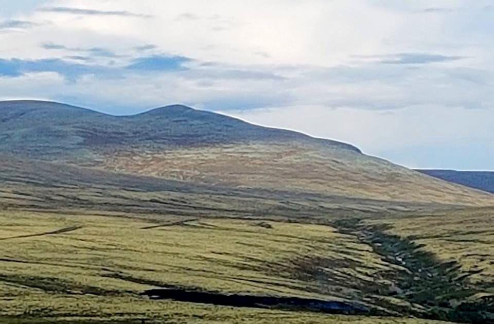 SVIDD AV: Det svarte feltet nederst på bildet ble svidd av i nærheten av Mysusæter.