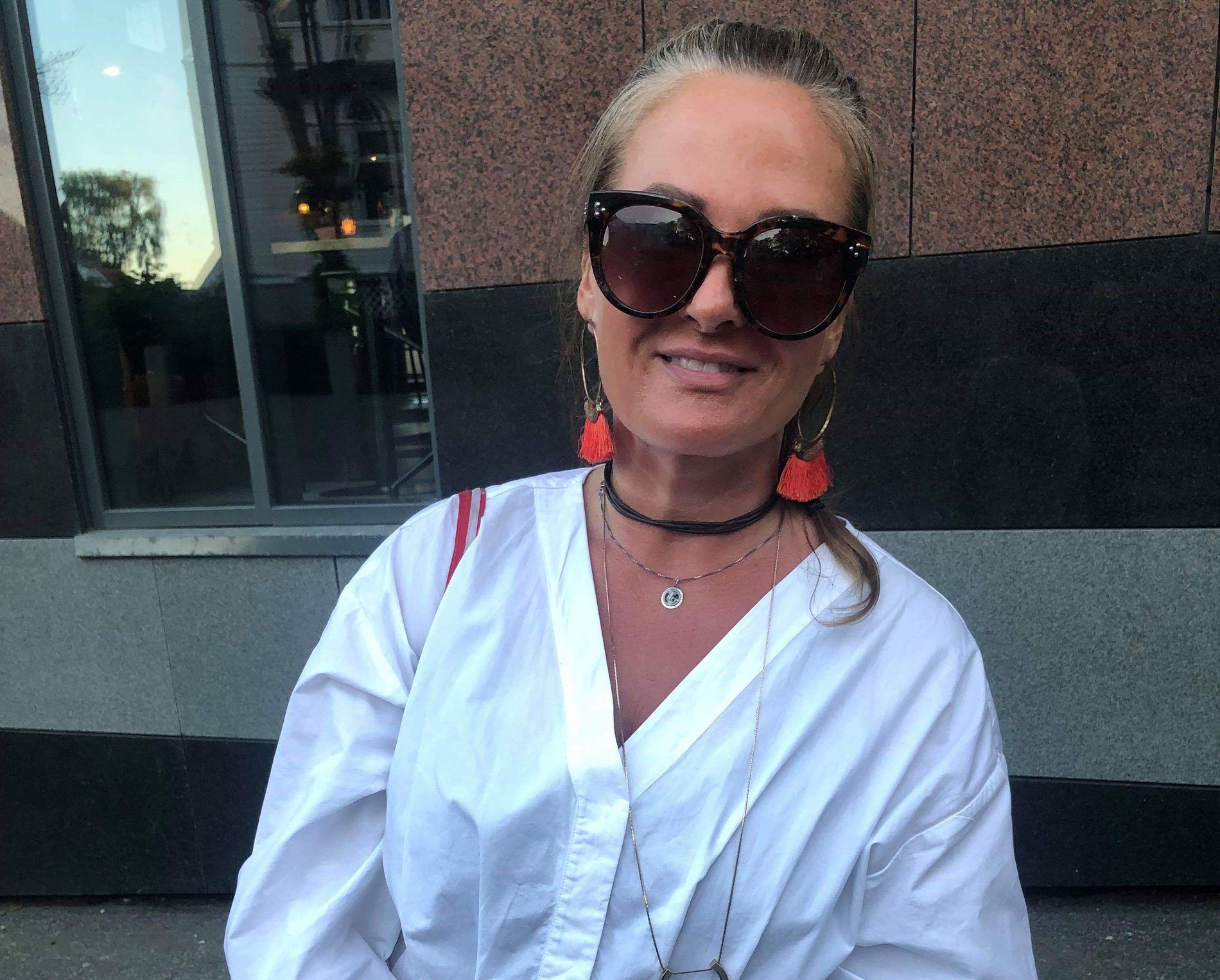 OVERRASKET: Nina Dale sitter igjen med en god opplevelse etter mandagens foredrag.