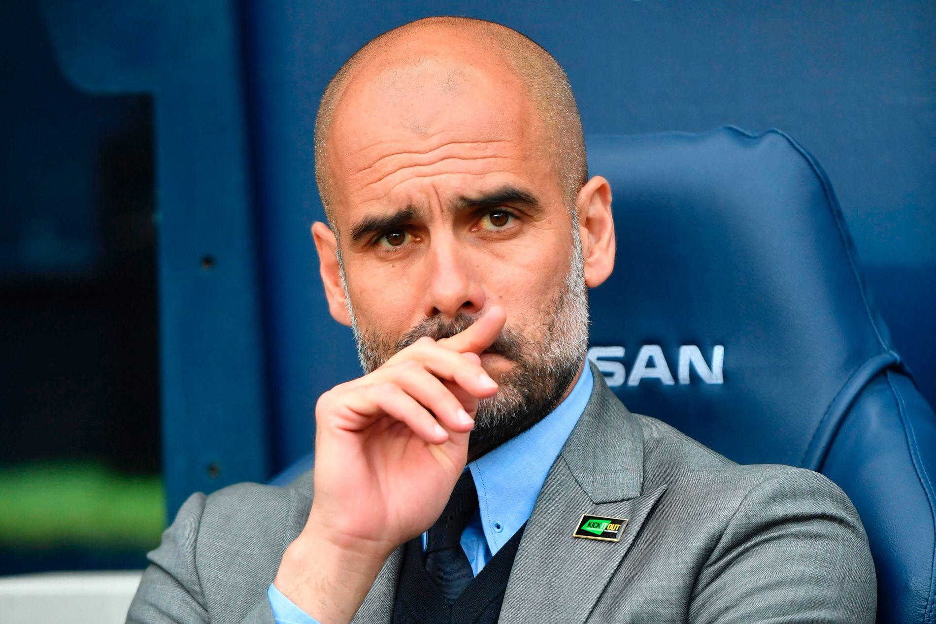 I SJOKK: Manchester City-trener Pep Guardiola skriver på Twitter at han er i sjokk etter terrorangrepet i Manchester mandag kveld.