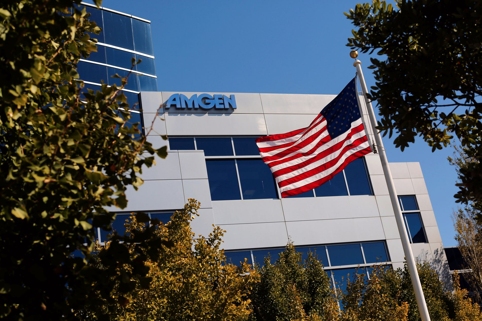 STÅR BAK: Selskapet Amgens kontorer i den amerikanske byen San Francisco i California.