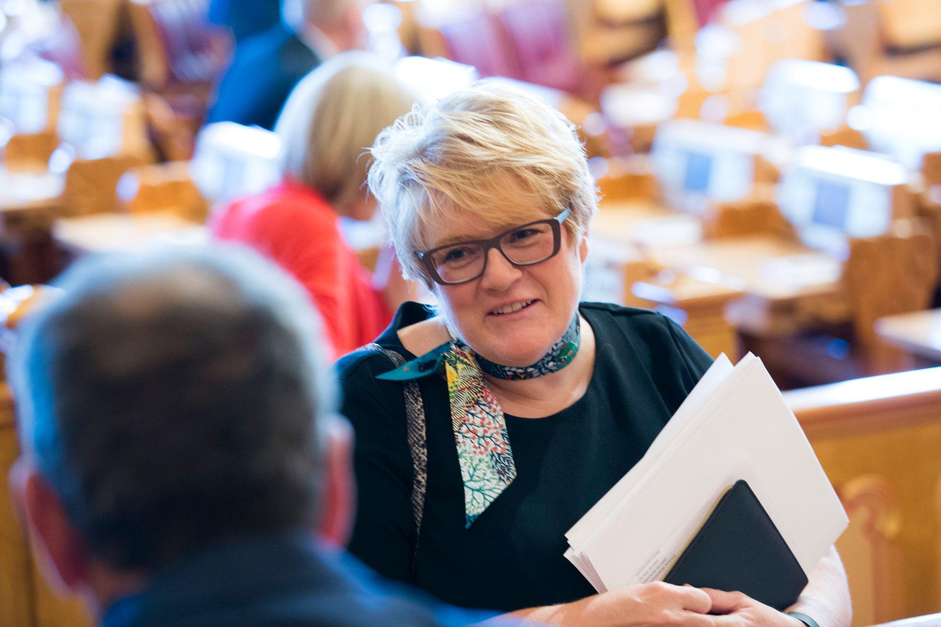 IKKE OVERRASKET: Venstre-leder Trine Skei Grande sier hun dessverre ikke er overrasket over VGs avsløringer.
