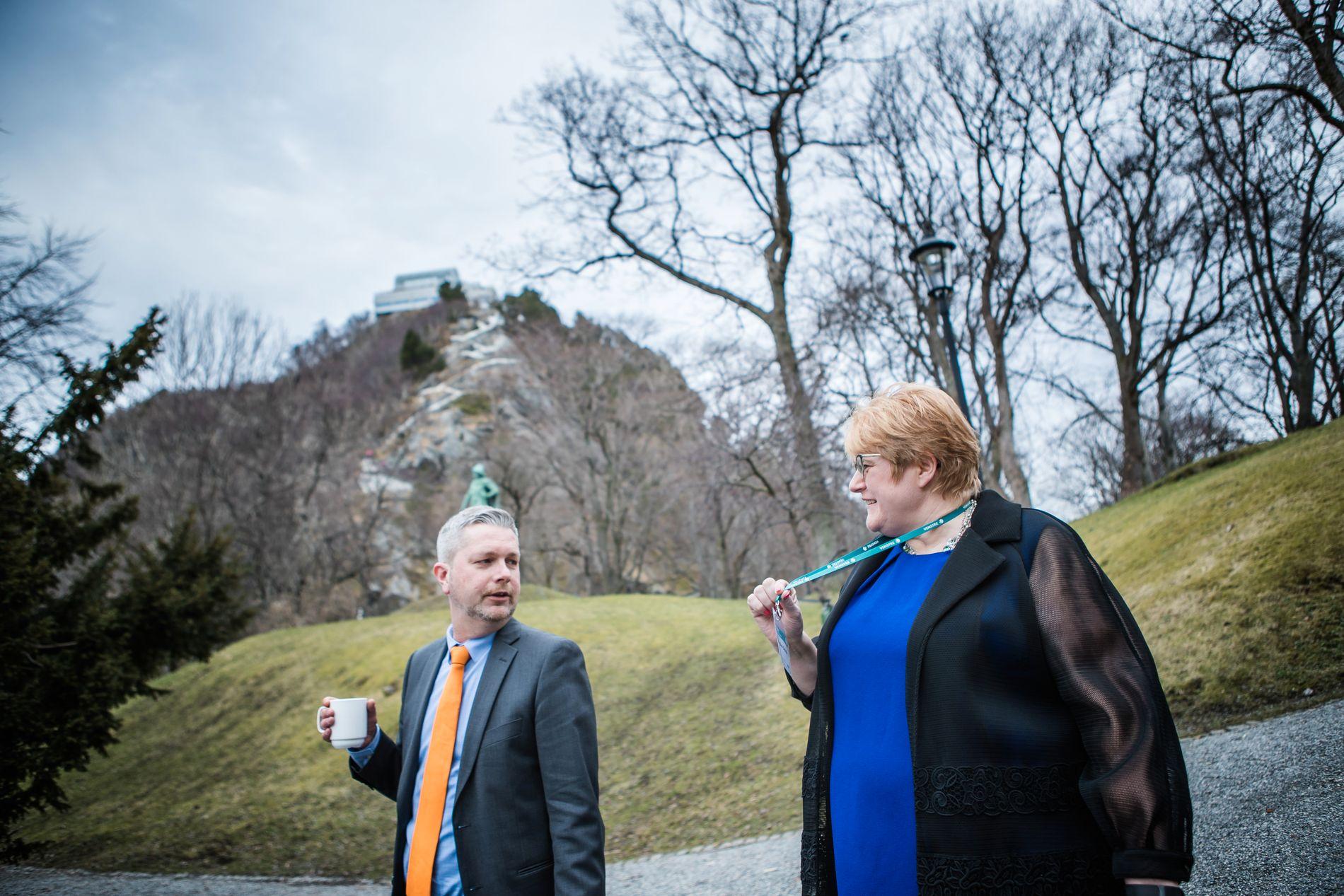 ANKLAGES: Venstre-leder Trine Skei Grande og hennes statssekretær,  Jan-Christian Kolstø, anklages for å ha spredt rykter om 17-åringen Grande skal ha hatt sex med.