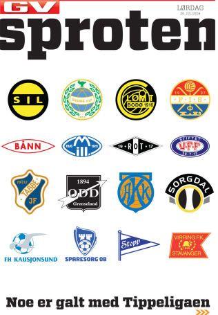 ALT GALT?: VG Sportens cover i dag slår ettertrykkelig fast at noen er galt med Tippeligaen. (Faksimile)