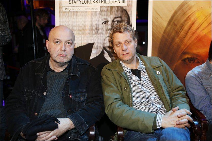 DYSTOOISK DUO: Christopher Nielsen(t.v.) og Anders T. Andersen samarbeider om Holocaustmusikalen. Foto: CORNELIUS POPP/SANCPIX