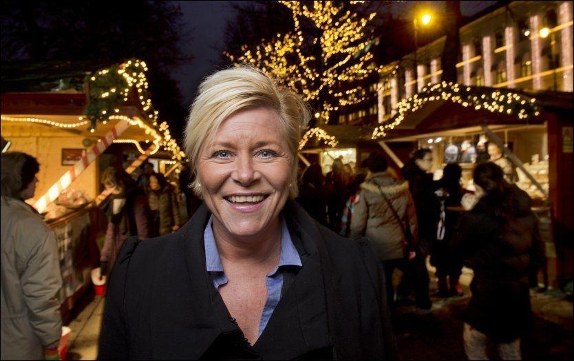 VIL ØDELEGGE FOR JENS: Neste år skal Siv Jensen kjempe sammen med de andre partilederne på borgerlig side for å nekte Jens Stoltenberg den tredje, strake valgseieren. Foto: HELGE MIKALSEN, VG
