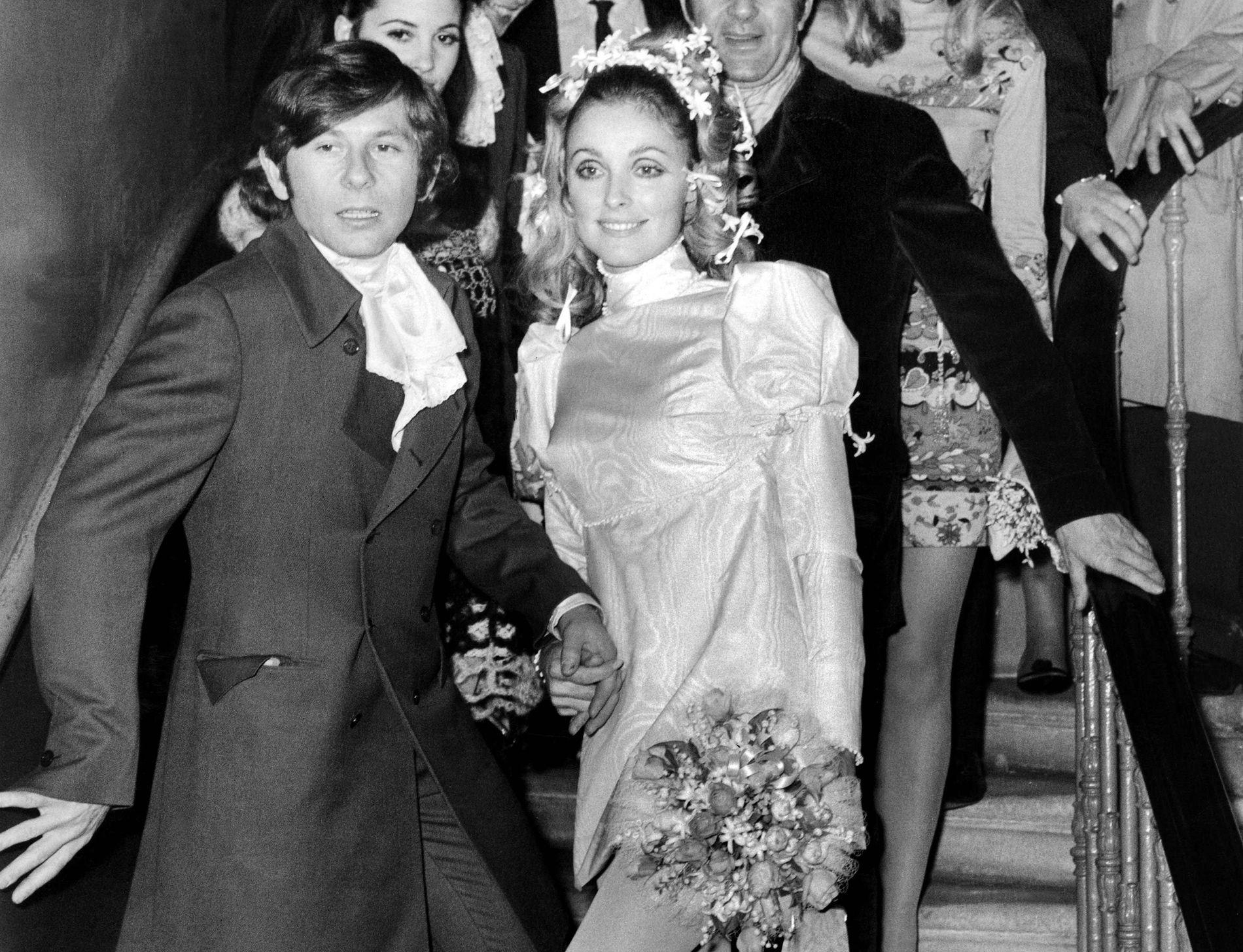 NYGIFT: Roman Polanski og Sharon Tate 20. januar 1968, på tinghuset i London.