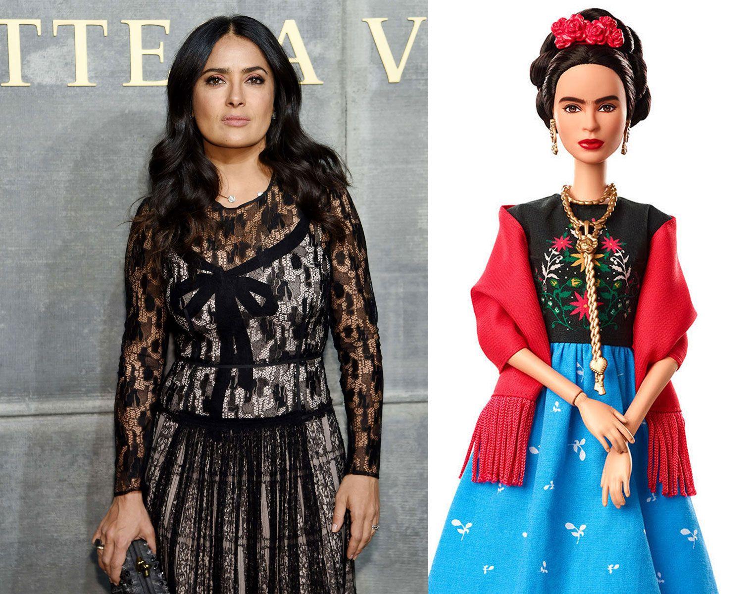OPPRØRT: Salma Hayek misliker sterkt denne kopien av kunstnerikonet Frida Kahlo.