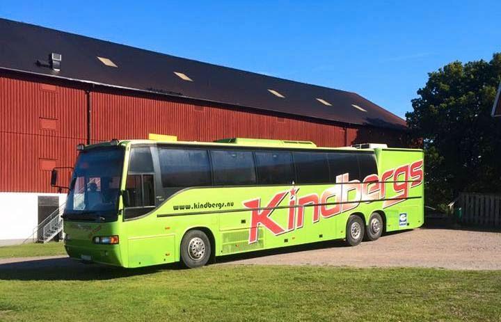 STJÅLET: Kindbergs fikk bandbussen stjålet mandag morgen. Foto: Kindbergs
