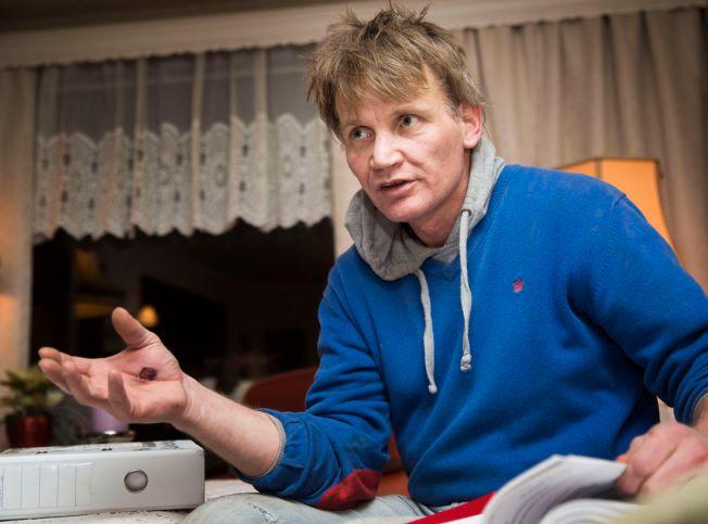 FØLER SEG LURT: Harald André Aslaksrud fikk i 2013 utbetalt over 700.000 kroner i erstatning etter at han som tenåring ble utsatt for overgrep av en støttekontakt som var politimann. Han lånte ut 200.000 kroner til Malthe-Sørenssen.