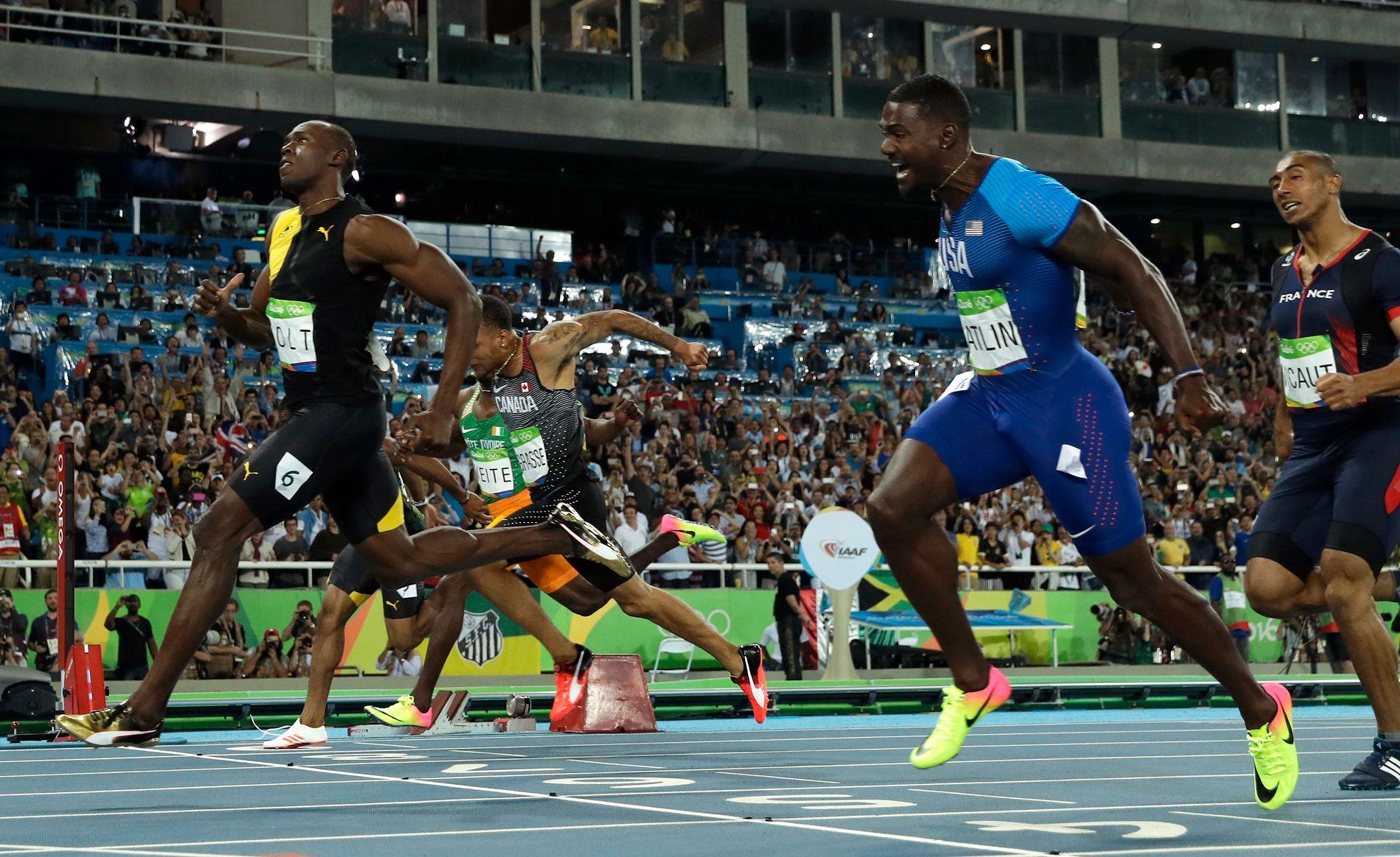 NYTT GULL: Usain Bolt var selvfølgelig først over målstreken da det gjaldt som mest.