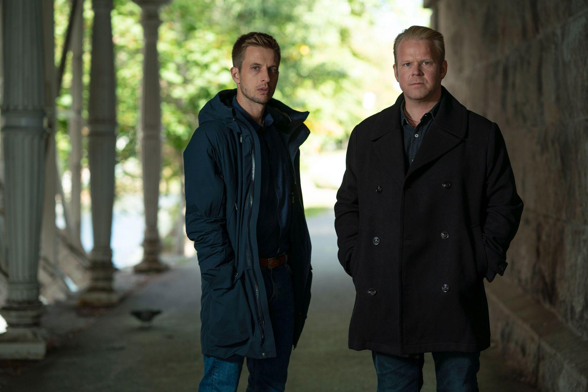 SERIEBRØDRE: Anders Danielsen Lie og Anders Baasmo har spilt brødre på serie før. Nå spiller de politikolleger - og motsetninger.
