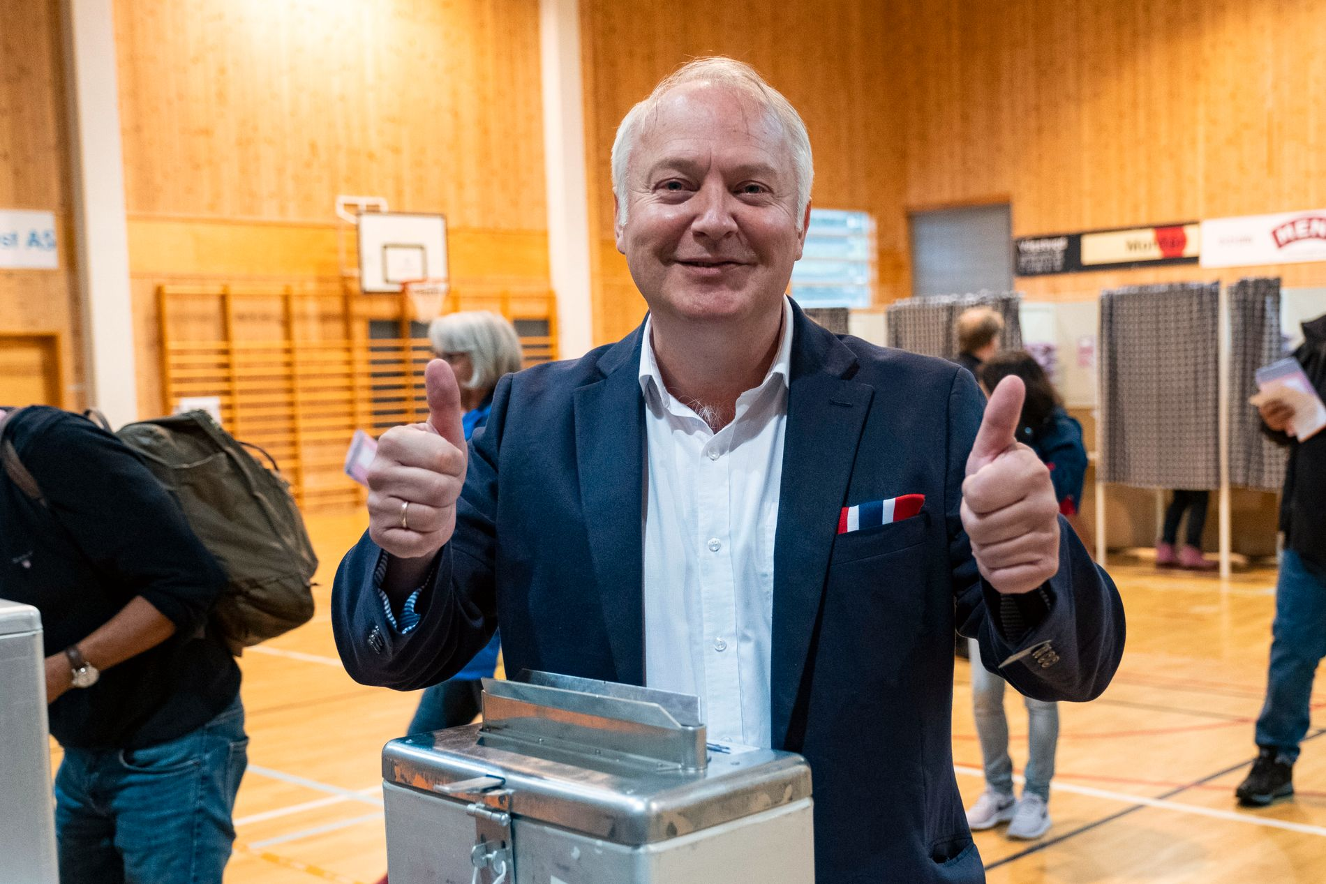 BRAKVALG: Frp-utbryter og Demokratene-leder Vidar Kleppe i Kristiansand.
