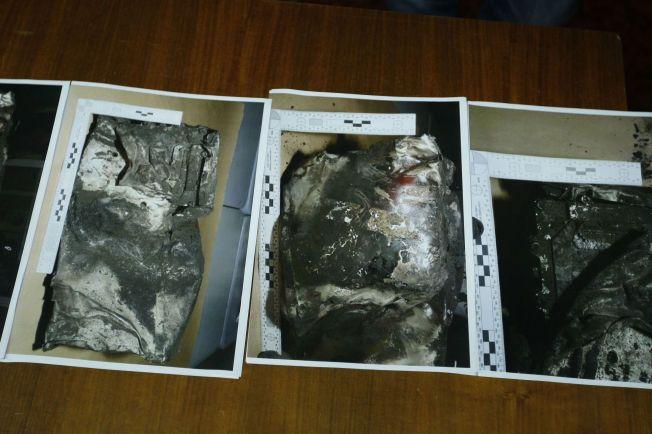 FUNNET: Disse bildene viser den andre svarte boksen fra Germanwings-flyet som styrtet i Alpene.