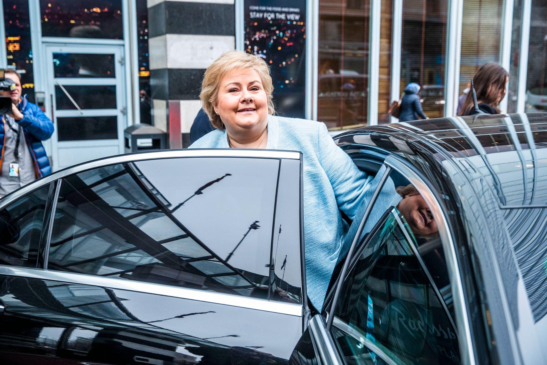 BEHOLDER JOBBEN: Statsminister Erna Solberg.